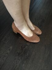"""Urban Outfitters tan suede slip on- Size 7 with 1.75"""" heel - BNWB"""