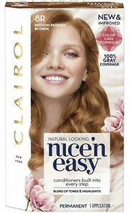 Clairol Nice'n Easy New Improved Permanent Hair Color #8R MEDIUM REDDISH BLONDE