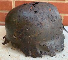 Original WW2 Normandy Relic German Luftwaffe Helmet - #33