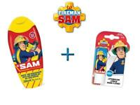 Feuerwehrmann Sam Pflegeset (Dusch/Badeschaum + Lippenbalsam) Shampoo Baden NEU