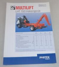 Prospekt / Broschüre Multilift LHT 150 Hakengerät Stand 06/2000