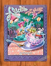 "TIN-UPS Walt Disney Tin Sign ""Alice's Tea Party"" Tea Cups Art Ride Poster"