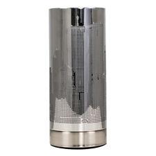 Modern Chrome New York City Skyline Touch Dimmer Bedside Table Lamp Lounge Light