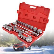 "27pcs 3/4 Inch Drive Impact Socket Set 22-50mm + 20"" Spanner Metric Wrench"