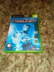 Deus Ex Invisible War Microsoft Xbox Original Game PAL UK Complete freepost