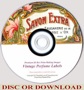 Restored ANTIQUE PERFUME LABEL IMAGES - High Res. Print Making (by Timecamera)
