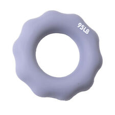 Silicone Hand Finger Grip Ring Gym Muscle Power Training Exerciser Gray 95Lb