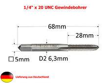 """Einschnittgewindebohrer / Gewindeschneider HSS - UNC 1/4"""" Zoll x 20"""
