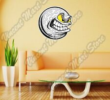 "Angry Smile Golf Ball Clubs Course Wall Sticker Room Interior Decor 22""X22"""