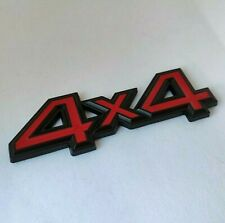 Red Black 4x4 Metal Car Badge Emblem Sticker 4WD for Ford Ranger Wildtrak SUV X