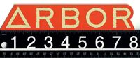 ARBOR SKATEBOARDS STICKER Arbor Collective 8 in x 1.5 in Orange Skate Decal