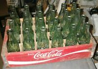 wood Coca-Cola crate w/24-1950s 6/6.5 OZ bottles w/ Indiana city names on bottom