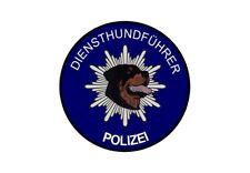 Aufkleber Diensthundführer Polizei Rottweiler (Hinterglas)