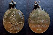 medalla medallon bronce SAN ISIDRO LABRADOR MADRID siglo XIX medal religious