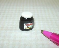 "Miniature Large Chocolate/Nut Spread Jar (Plastic), 1/2"": DOLLHOUSE Barbie 1/6"