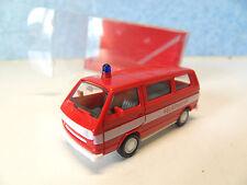EF67) VW COMBI  pompiers HERPA en BO 4101 pour train electrique HO 1/87