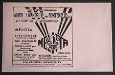 BUVARD PUBLICITAIRE ANCIEN : PRODUITS MONASTIQUES Abbaye St Wandrille MELITA