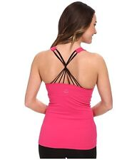 NWT $77 Sz. S BEYOND YOGA 'Strappy Twist Back Cami' Sports Bra Tank Top Pink