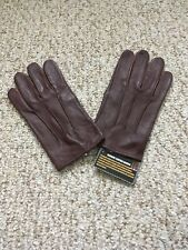 Men's Dress XL Burgundy Leather Gloves