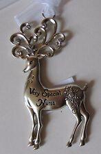 ffd Very Special Nurse Merry Reindeer Christmas Ornament Ganz Car Charm
