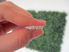 .43 Carat Diamond White Gold Half Eternity Ring 14k HE86 sep