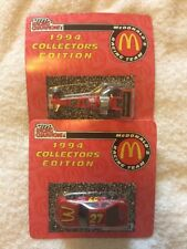 Set Of 2 1994 Collectors Edition McDonalds Racing Team Cars Nascar Unopened