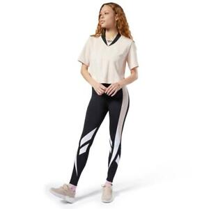 REEBOK Classics Women's Vector Leggings M UK 12-14 BLACK    B1