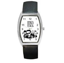 U2 BAND UNISEX BARREL LEATHER BAND WATCH WRISTWATCH 107389595