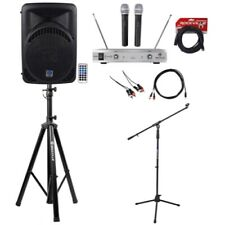 "Rockville Pro 12"" ipad/iphone/Android/Laptop/TV Youtube Karaoke Machine/System"
