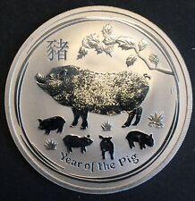 Australia - Silver 1 Dollar Coin - 1 Oz. - 'Year of the Pig' - 2019 - Proof