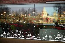 Sticker Autocollant Mural Flocon Neige Maison Pr Boutique Fenêtre Noël 60*90cm N