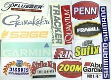 Fishing Stickers LOT of (16) Decals  for Brand Lovers