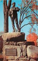 Rutland Vermont~Statue Green Mountain Boy~Musket~Powder Horn~1950s Postcard