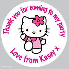 Personnalisé Hello Kitty 37mm Autocollants Fête D'Anniversaire vous remercier phoques-n34