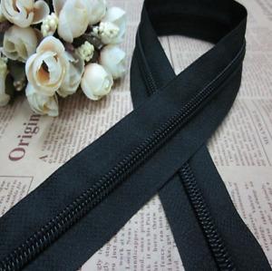 10# Cloth&Bag Heavy Duty Zipper open End Various Black Chunky PlasticTeeth Zip