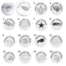 22mm 316L Stainless Steel NFL FOOTBALL Window Plate Charms for Floating Locket