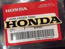 HONDA GENUINE 100%  MARK 70 mm  - BLACK STICKER DECAL STICKER LOGO BADGE TANK OI