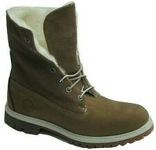 """Womens Ladies Timberland 6 Inch 6"""" Teddy Fleece Boots Lace Up Winter 26648 Size"""