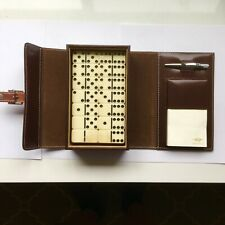 Retro 51 LUXARY Dominoes Double Nines Leatherbound Game w/Pen & Notepad