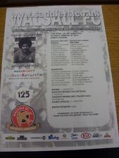 08/02/2014 Colour Teamsheet: Walsall v Milton Keynes Dons  (folded). We try and