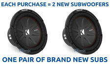 (2) KICKER 43CWR104 1600W 10 Inch CompR Dual 4-Ohm Car Subwoofers Sub Woofers