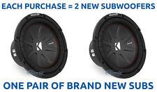 (2) Kicker 43Cwr104 1600W 10 Inch CompR Dual 4-Ohm Car Subwoofers Sub Woofers