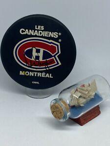Ken Dryden signed Montreal Canadiens Hockey Puck JSA COA Rare Auto HOF A2205
