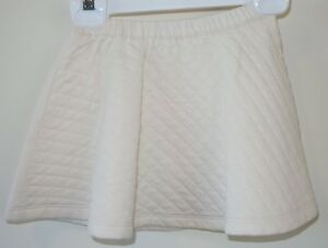 Brand New Hanna Andersson Ivory Quilted Skater Skirt ~ Girl's 90 / 2-3.5 year