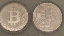 Bitcoin Rare 1 oz .999 Silver Plated Commemorative Coin Collectiable AOCS