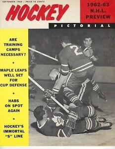 1962 SEP Hockey Pictorial Magazine, Toronto Maple Leafs NHL Preview '62-'63 GNL