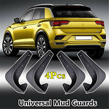 Black EVA Plastic Full Set Car Fender Mudguards Molded Splash Guards 4Pcs/Kit
