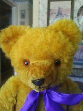 Antique Vintage 1940s Art silk German Teddy bear Germany Guc 20in