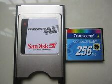 Transcend 256MB 80X Compact Flash +ATA PC card PCMCIA Adapter JANOME Machines