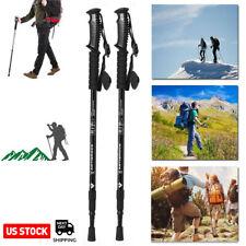 1/2Pack Trekking Walking Hiking Sticks Poles Adjustable Alpenstock anti-shock US